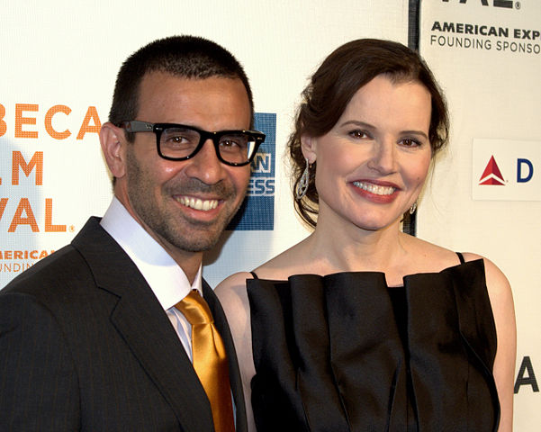 Reza Jarrahy and Geena Davis at the 2009 Tribeca Film Festival.jpg