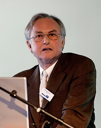 Lecturing on his book The God Delusion, 24 June 2006 Richard dawkins lecture.jpg