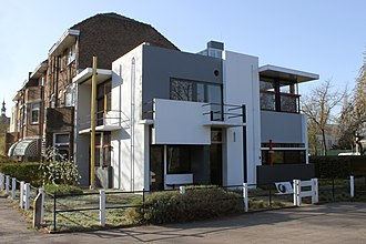 Rietveld Schröder House - The exterior of the Rietveld Schröder House
