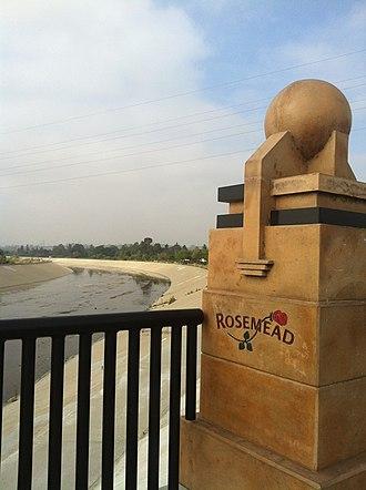 Rosemead, California - Entrance to Rosemead on Garvey Avenue over Rio Hondo Bridge