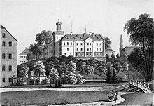 Rittergut Erdmannsdorf um 1859 (Quelle: Wikimedia)