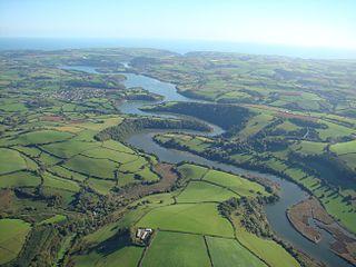 River Dart river in Devon, England