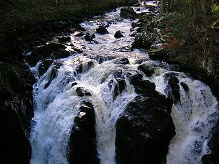 River Braan river in the United Kingdom