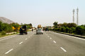 Roads in India Highway in Rajasthan heading to Delhi March 2015.jpg