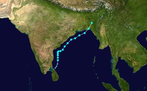 Cyclone Roanu - Image: Roanu 2016 track