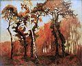 Robert Antoine Pinchon, Sous bois d'automne, oil on canvas, 60 x 73 cm.jpg