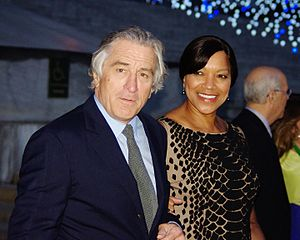 Interracial marriage in the United States - Robert De Niro and his wife Grace Hightower are a prominent interracial couple, shown here at the 2012 Tribeca Film Festival