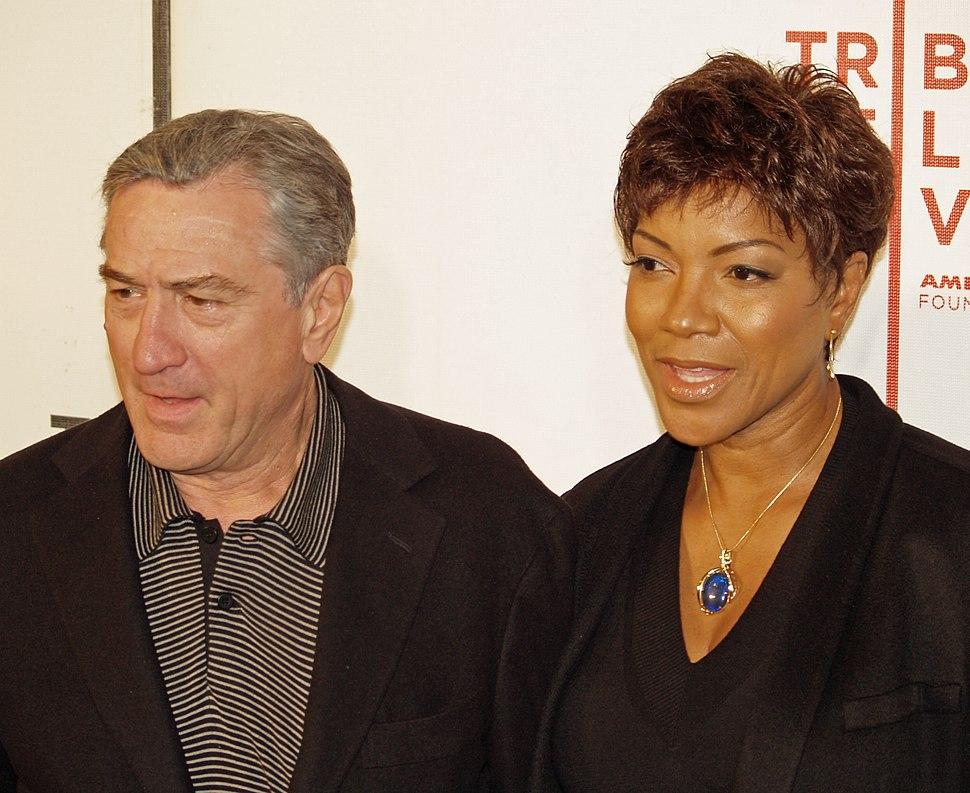 Robert De Niro and Grace Hightower in 2008