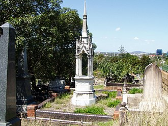 Robert Philp - The grave of Sir Robert Philp at Brisbane's Toowong Cemetery.