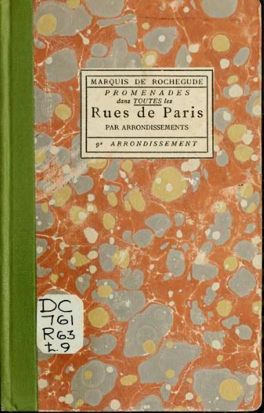 File:Rochegude - Promenades dans toutes les rues de Paris, 9.djvu