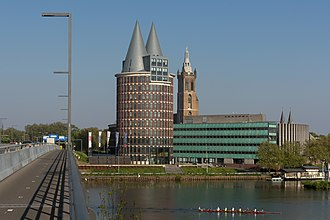 Roermond - The Natalini tower and the cathedrale in the background