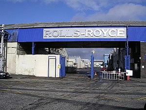 Arthur Sidgreaves - Rolls-Royce site at Glasgow in October 2005