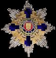 Romanian tähtiritarikunnan suurristin rintatähti.png