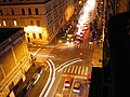 Rome crossroads at night 2005.jpg