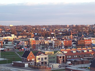 Roombeek - Aerial view of Roombeek showing new construction