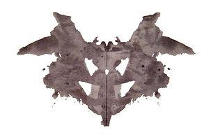 La première planche parmi les dix du test de Rorschach