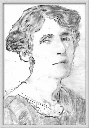 Rose Macaulay - Pencil sketch of Rose Macaulay