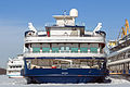 Rossiya in Winter at Moscow North River Port Stern View 10-feb-2015.jpg