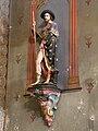 Rouffignac-Saint-Cernin église statue St Roch.JPG