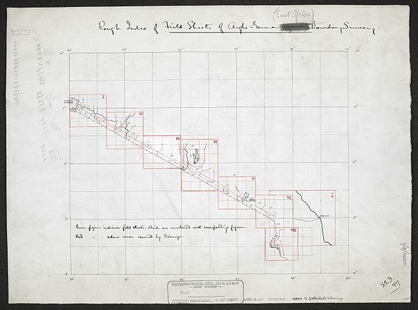 600px rough index of field sheets of anglo german %28east africa%29 boundary survey. %28woos 8 1%29