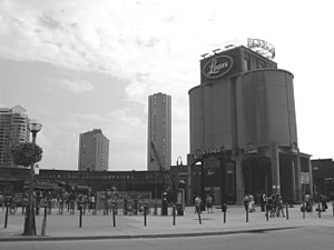 Coaling tower - Image: Roundhouse and coal tower Toronto 2013 greyscale
