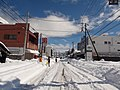 Route 411 Kofu Sakaori district of heavy snow Feb.15,2014.JPG