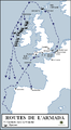 Routes of the Spanish Armada (fr).PNG