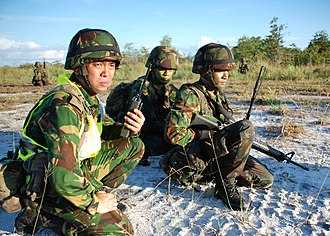 Royal Brunei Land Forces - Bruneian soldiers during the CARAT 2010 exercise