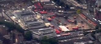 Mount Pleasant Mail Centre - Aerial view looking west
