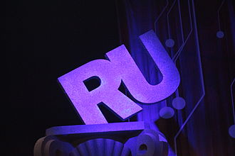 Media of Russia - Runet logo at the 2009 Runet Prize ceremony