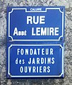 Rue abbé Lemire, fondateur des jardins ouvriers, à Caluire-et-Cuire.jpg