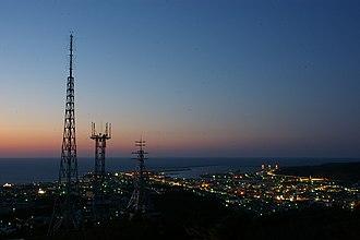 Rumoi, Hokkaido - View of Downtown Rumoi from Senbou Hill in night