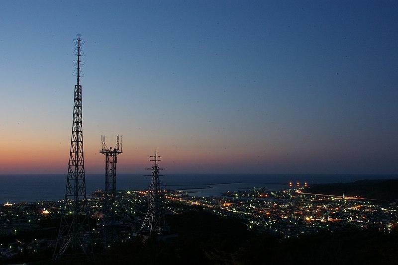 Rumoi city nightview.JPG