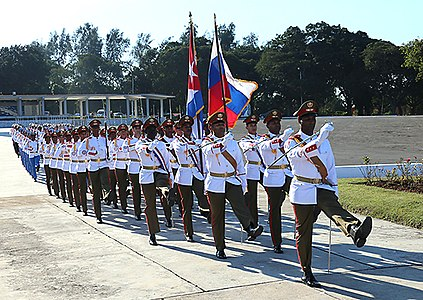 Russian Defence Minister visited tank division Revolutionary Armed Forces of Cuba and laid a wreath to the Soviet soldiers-internationalists memorial 06