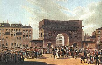 Ο Ρωσσικός στρατός εισέρχεται στο Παρίσι το 1814.