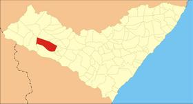 Localização de São José da Tapera