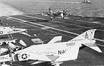 S-2E Tracker of VS-28 lands on USS Independence (CV-62) c1973.jpg