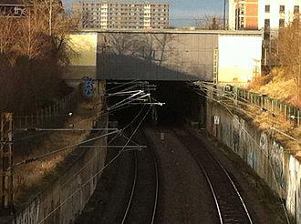 S-Bahn Mitteldeutschland - Southern portal of the S-Bahn tunnel in Halle
