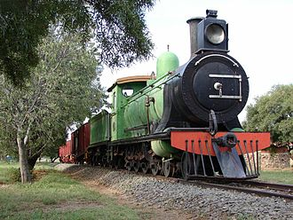 South African Class 7 4-8-0 - Midland System no. 344, SAR no. 975, with type ZA tender, Bloemfontein, 6 April 2006