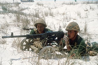 SG-43 Goryunov - Egyptian marines with SG-43, 1985