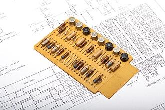 IBM Standard Modular System - A single-width SMS card.