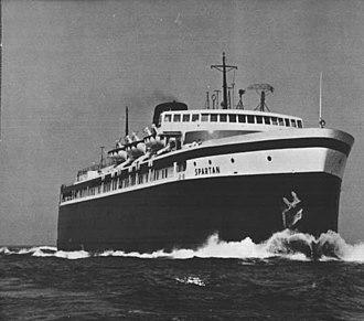 SS Spartan - Image: SS Spartan C&O Carferry