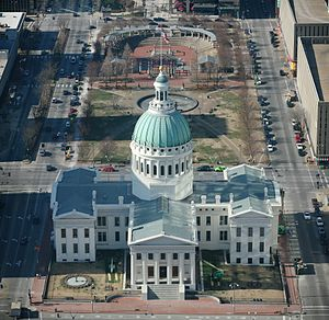 St. Louis Gateway Mall - Image: STL Old courthouse