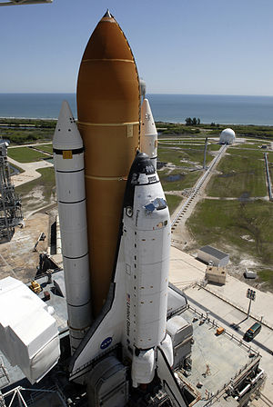 Space Shuttle Endeavour - Space Shuttle Endeavour on launch pad 39A prior to mission STS-127, May 31, 2009