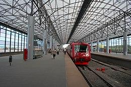 Станция Аэроэкспресса в Шереметьеве.