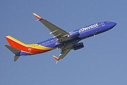 SWA 737 new livery takeoff, BWI