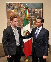 Saúl Álvarez & Enrique Peña Nieto.