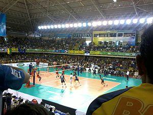 2013 FIVB Volleyball Men's Club World Championship - Final match between Sada Cruzeiro and Lokomotiv Novosibirsk.