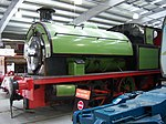 Saddle tank locomotive, Locomotion Shildon, 28 April 2010.JPG