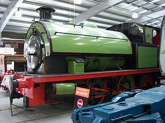 Foxfield Railway - Image: Saddle tank locomotive, Locomotion Shildon, 28 April 2010